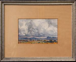 "Maynard Dixon (1875 - 1946) Watercolor/Gouache ""Western Landscape"""