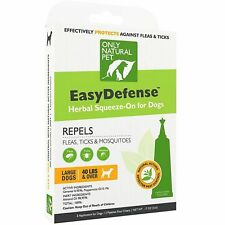 ONLY NATURAL PET HERBAL FLEAS TICKS MOSQUITOES REPELLANT FOR LARGE DOGS 3 COUNT