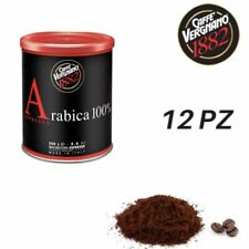 12 Lattine Caffè VERGNANO 100% Arabica Macinatura Espresso 250 Gr (3 Kg)
