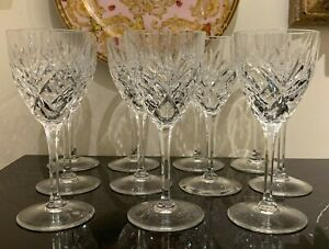 St Louis Crystal France Chantilly Continental Goblet Glass Set of 11