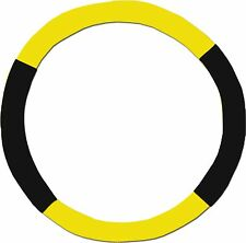 Yellow & Black Steering Wheel Cover - Like Seat Covers - or Choose Colors