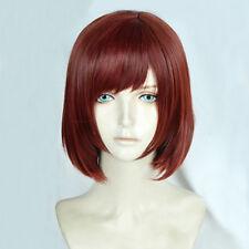 Kingdom Hearts III Kairi Short Reddish Brown Heat Resistant Cosplay Wig + Cap