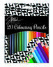 Sketched 20 Colouring Pencils - High Quality Premium Therapy Colour Adults Kids