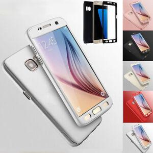 Hybrid 360° New Shockproof Case Tempered GlasS for Samsung S6 & S7 Phone bundel
