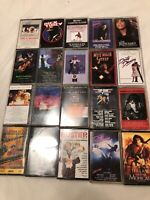 20 Ct Lot Cassette Tapes Movie Soundtracks Top Gun Eddie & The Cruisers Batman F