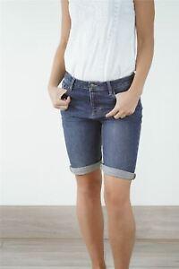 Womens Fat Face Shorts Clean Blue Denim Bermuda Ladies Casual Summer Button Fly