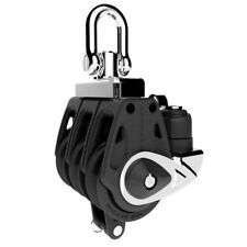 Lewmar Synchro 30mm Control Triple Block With Becket & Cleat 29901330BK