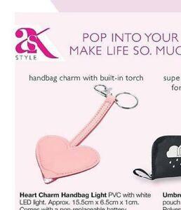 Avon Heart shaped Handbag Keyring Charm and Light ....new~Great Gift Idea 🎁