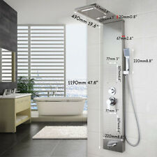Bathroom Stainless Steel Shower Column Wall Mounted Massage System Shower Panel