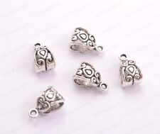 20/50/100Pcs Tibetan Silver/Gold Charm Pendant Bail Connector Bead 5MM JK3030