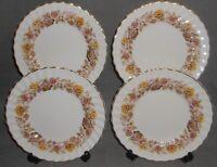 Set (4) ROYAL DOULTON Bone China MAYFAIR PATTERN Salad Plates MADE IN ENGLAND