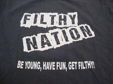 Filthy Nation Tour 2014 5K Safari Mud Run Running Course Gray T Shirt M