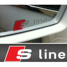2 Pcs S Line Car Silver Side Mirror Badge Sticker Emblem For Audi A3 A4 A5 A6 Q7