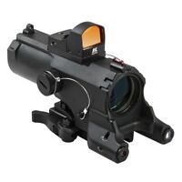 VISM ECO 4x34 Prismatic Scope Green Laser Ncstar Red Micro Dot Nav LED Tactical