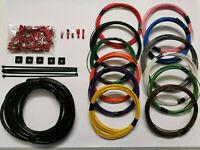12 x 5m automotive cable & crimps wiring loom bundle car van camper