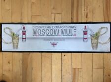 SMIRNOFF VODKA MOSCOW MULE RUNNER BEER DRIP MAT OLD STYLE DESIGN USED  / MARKED.