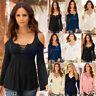 Fashion Women Autumn T-shirt Off Shoulder Long Sleeve Casual Ladies Tops Blouse
