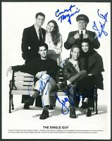 THE SINGLE GUY SIGNED 8X10 PHOTO X4 JONATHAN SILVERMAN JOEY SLOTNICK BORGNINE +1