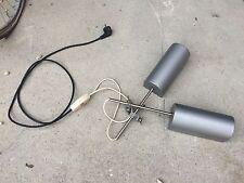 2 lampes VINTAGE de bureau à fixer aluminium peint réglable