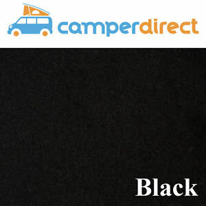 2m x 1m - Black Van Lining Carpet Kit 4 Way Stretch Inc 1 Tin High Temp Spray