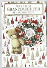 Granddaughter Christmas Card 'For A Lovely Granddaughter At Christmastime'