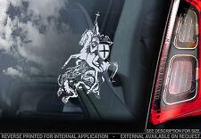 St George & The Dragon - Car Window Sticker - Knights Templar Masonic Saint- V05