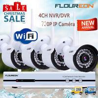4CH 1080P Sans fil AHD NVR CCTV Kit WLAN Sécurité IP Caméra Vidéo Surveillance