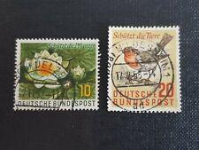 Bund 274 + 275, gestempelt, Naturschutz, JG 1957