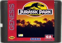 Jurassic Park (1993) 16 Bit Game Card For Sega Genesis / Mega Drive System