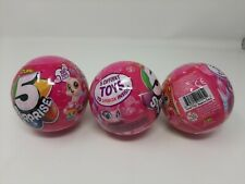 Lot of 3 Zuru 5 Surprise Pink Mystery Balls Sealed