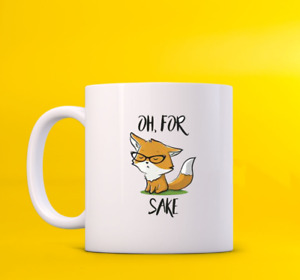 Fox Oh For Sake Glass Art Cute Funny Animal Pet Friend Family For Couple Mug