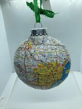 HANDMADE: STATE OF MICHIGAN CHRISTMAS ORNAMENT WITH MAJOR CITIES AND MAP!
