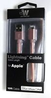 Just Wireless - Apple MFi Certified 10' Lightning Cable for iPhone - Rose Gold