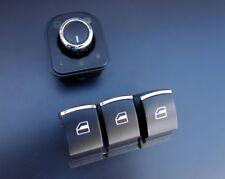 Für VW Golf 5 6 EOS Polo Ibiza Leon Chrom Fensterheber Schalter Spiegelschalter-