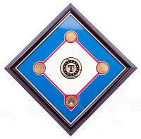 NEW - MLB Texas Rangers Ballpark in Arlington Dirt Plaque - FREE SHIPPING