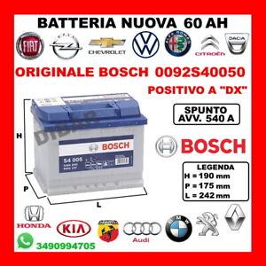 Battery 60AH BOSCH New Citroen AX-BX-C2-C25-C3-C4-C5-CX-DS3-DS4-XM-ZX Mens 1974