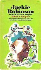 JACKIE ROBINSON of the BROOKLYN DODGERS 1969 BIOGRAPHY BOOK * MILTON J SHAPIRO