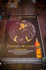 JOHNNIE WALKER C 4x6 ft Bus Shelter Original Food Alcohol Advertising Poster
