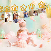 Baby 1st Birthday Gril Boy Party Supplies Banner Bunting High Chair Party Decor