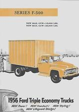 FORD SERIES F-500 TRUCKS USA SALES BROCHURE AUGUST 1955 FOR 1956 MODEL YEAR