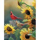 Diamond-Painting 5D Full Drill Sunflower And Bird Handmade Cross Craft