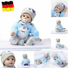 55cm reborn Baby Puppe Lebensecht Handgefertigt Weich Silikon-Vinyl Junge DHL