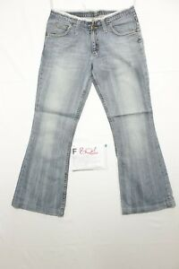lee bootcut accorciato boyfriend jeans usato (Cod.F801) Tg.46 W32 L30 Donna
