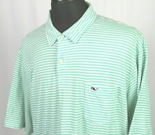 Men's Vineyard Vines Short Sleeved Striped Smooth Cotton Polo Golf Shirt XXL