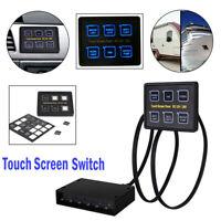 6Gang LED Schaltpanel Touchscreen 12V 24V Schalter Schalttafel Wohnwagen Boot RV