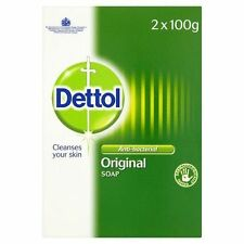 2 x 100g Dettol Original Soap Bar Anti-bacterial Dermatology Tested