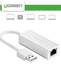 UGREEN Aluminum USB 2.0 to 10/100Mbps Ethernet LAN Wired Network Adapter for Mac