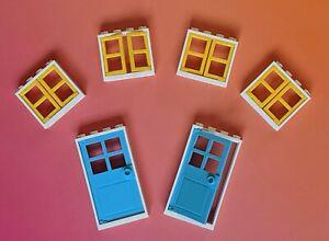 💥New Lego 2 Doors 4 Windows Sets Lot! City Friends Town House Parts