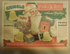 Camel Cigarette Ad: Christmas, Santa Claus and Camels ! Half Page
