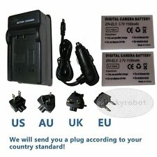 2X Battery + Charger For Nikon EN-EL5 Coolpix P6000 P100 P510 P500 P80 P90 new